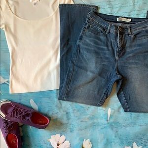 Levis 512 perfectly slimming bootcut jeans